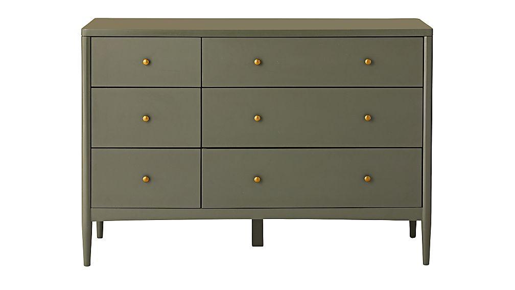 Kids Hampshire 6-Drawer Olive Green Dresser - Image 1 of 7
