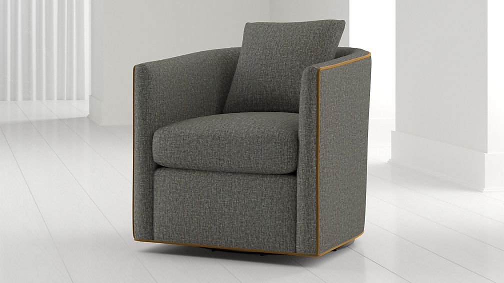 Drew Small Swivel Chair - Image 1 of 7