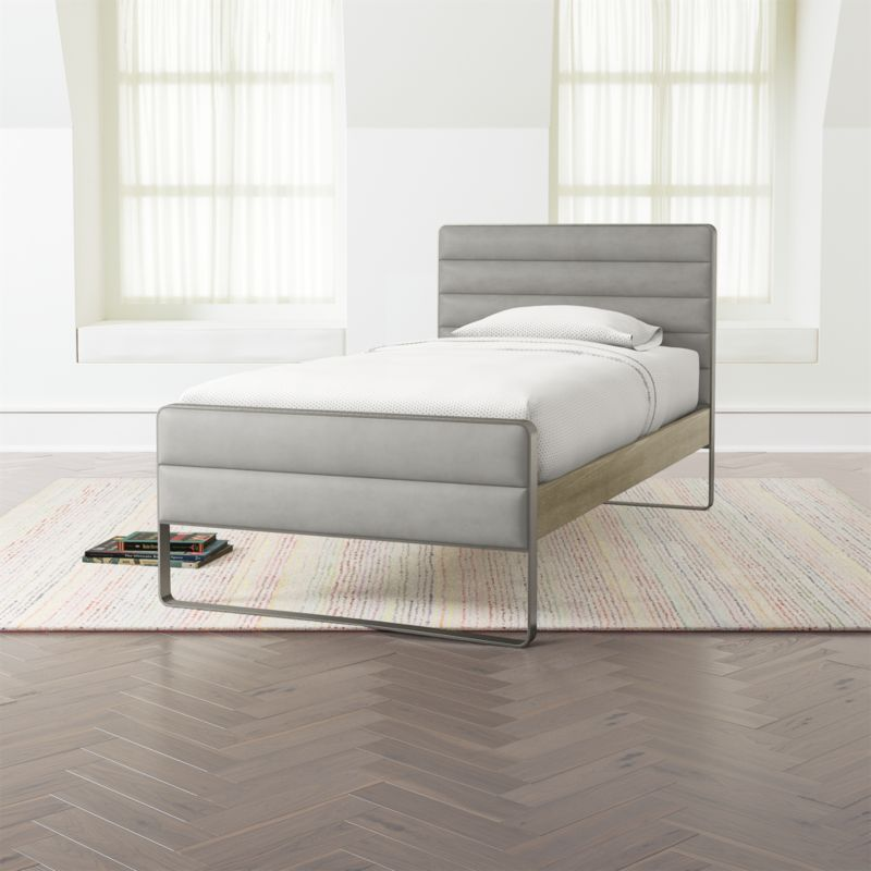 Drew Wood and Metal Bed
