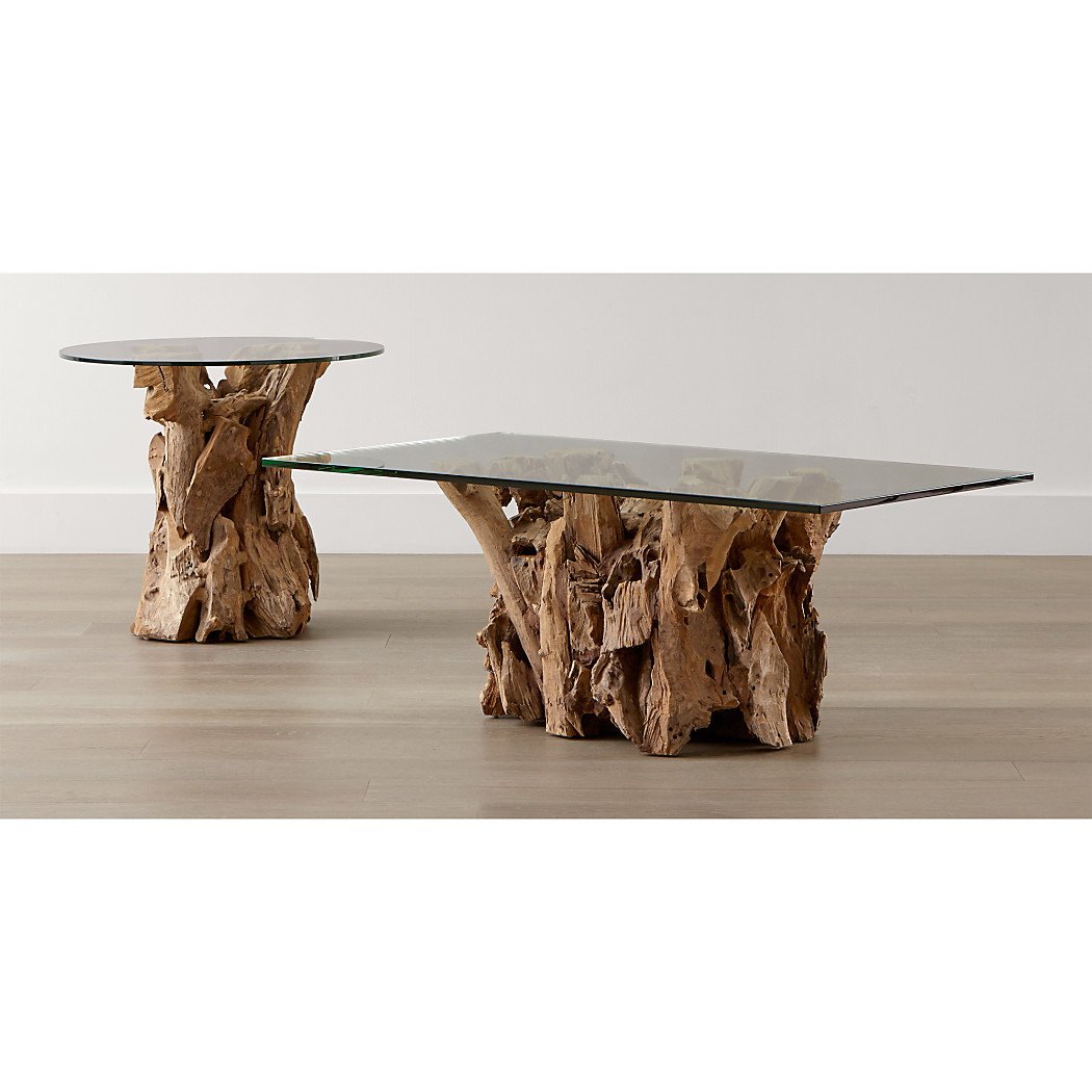 Crate and barrel driftwood coffee table - Tap To