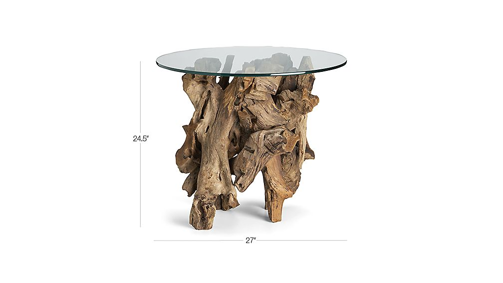 Driftwood Round Side Table Crate And Barrel