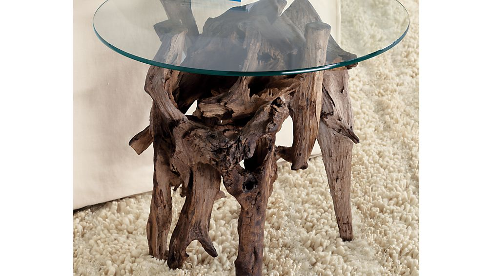 Driftwood Round Side Table