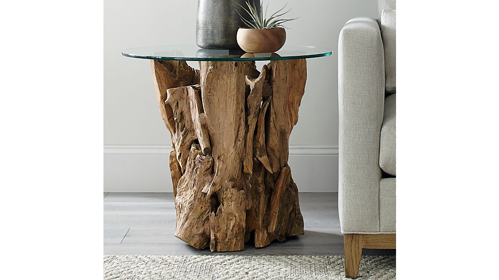 Driftwood Round Side Table : Crate and Barrel