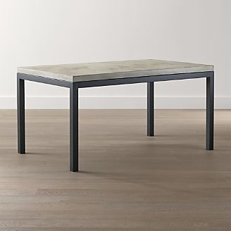 Parsons Concrete Top/ Dark Steel Base Dining Tables