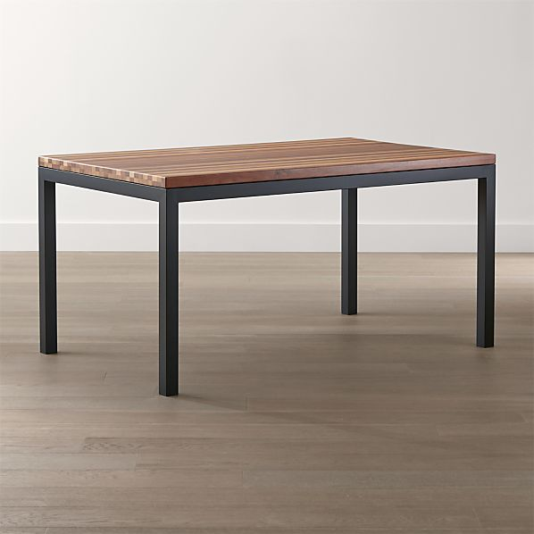 Parsons Reclaimed Wood Top/ Dark Steel Base Dining Tables