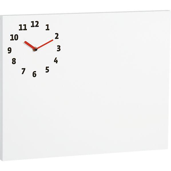 Dry Erase Board-Clock