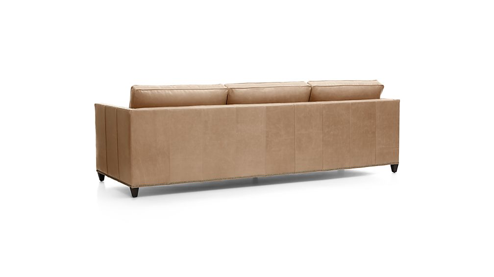 "Dryden Leather 3-Seat 103"" Grande Sofa with Nailheads"