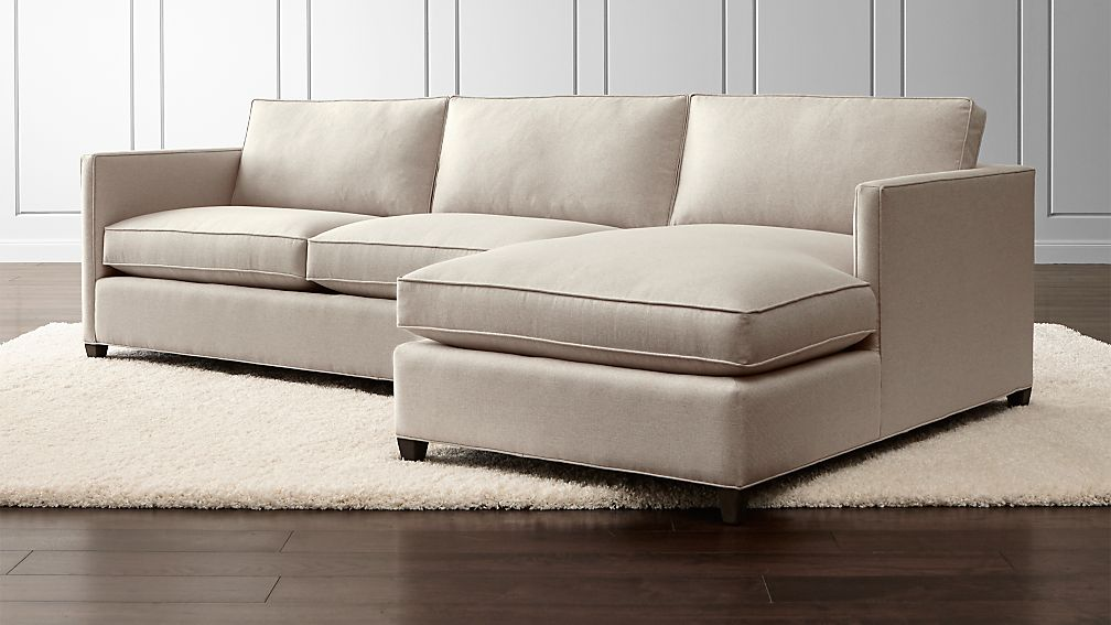 Crate And Barrel Lounge 2 Piece Sectional Sofa