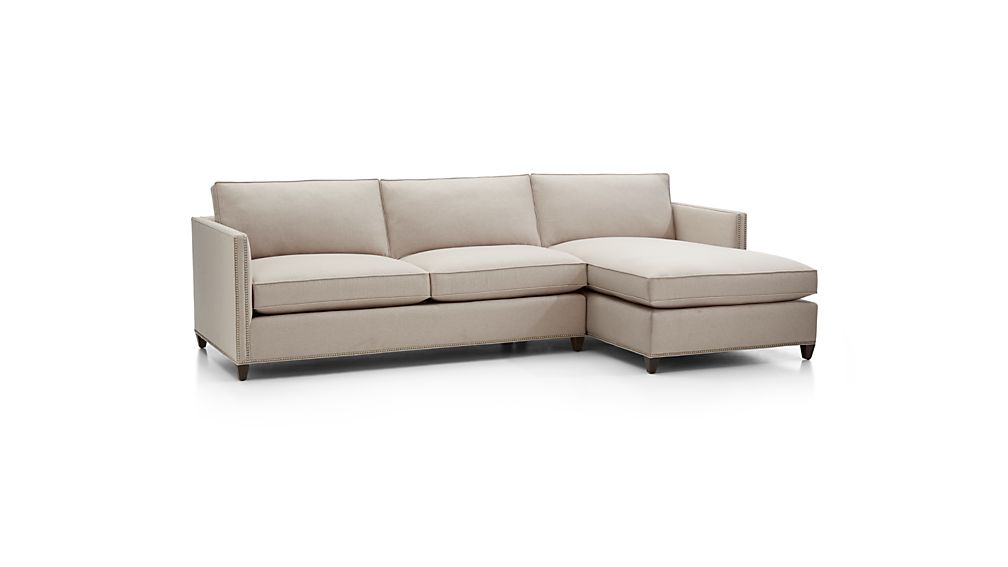 Dryden 2-Piece Sectional with Nailheads