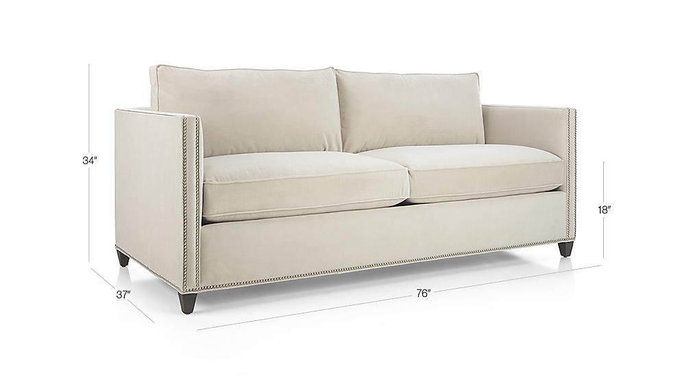 Dryden Apartment Sofa With Nailheads Crate And Barrel