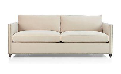 Dryden Queen Sleeper Sofa with Nailheads and Air Mattress View Wheat