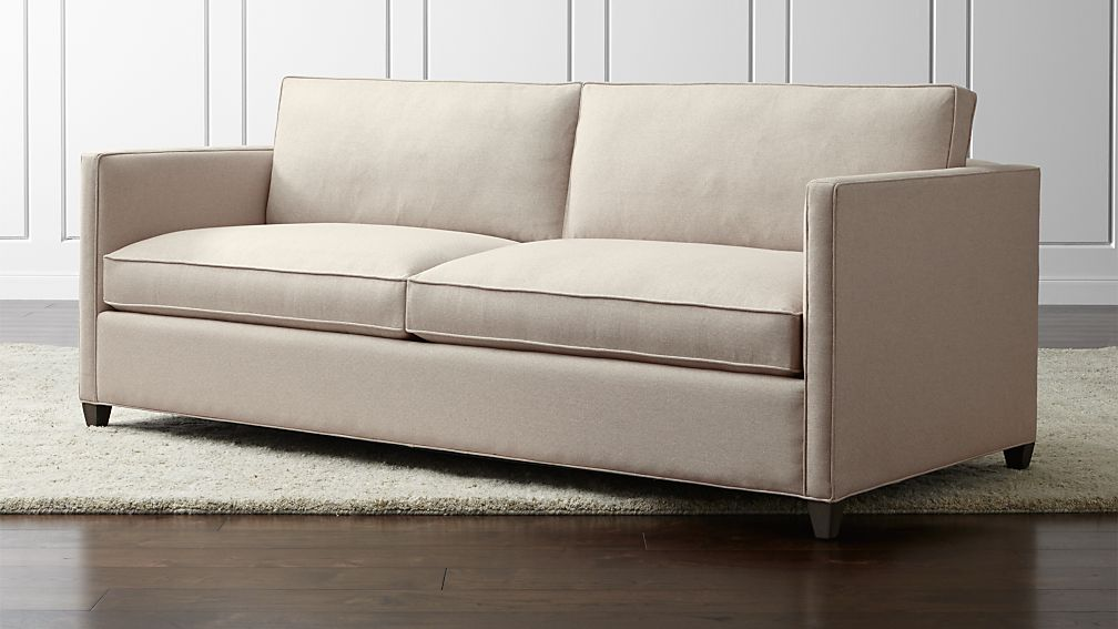 Dryden Grey Modern Sofa Reviews Crate And Barrel