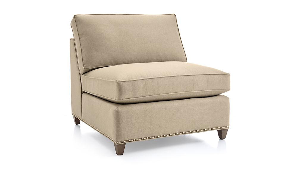 Dryden Armless Chair with Nailheads