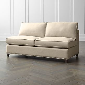 Dryden Armless Loveseat with Nailheads