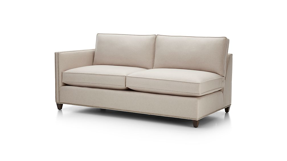 Dryden Left Arm Apartment Sofa with Nailheads