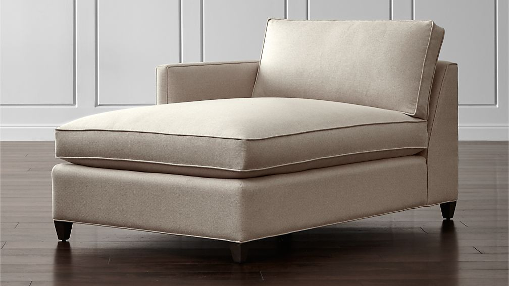 Dryden left arm chaise lounge crate and barrel for Chaise lounge com