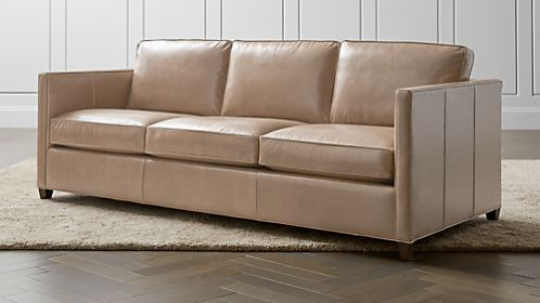 Dryden Leather 3 Seat Queen Sleeper Sofa