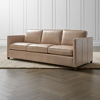 L Shaped Sofas. Dryden Leather 3-Seat Sofa