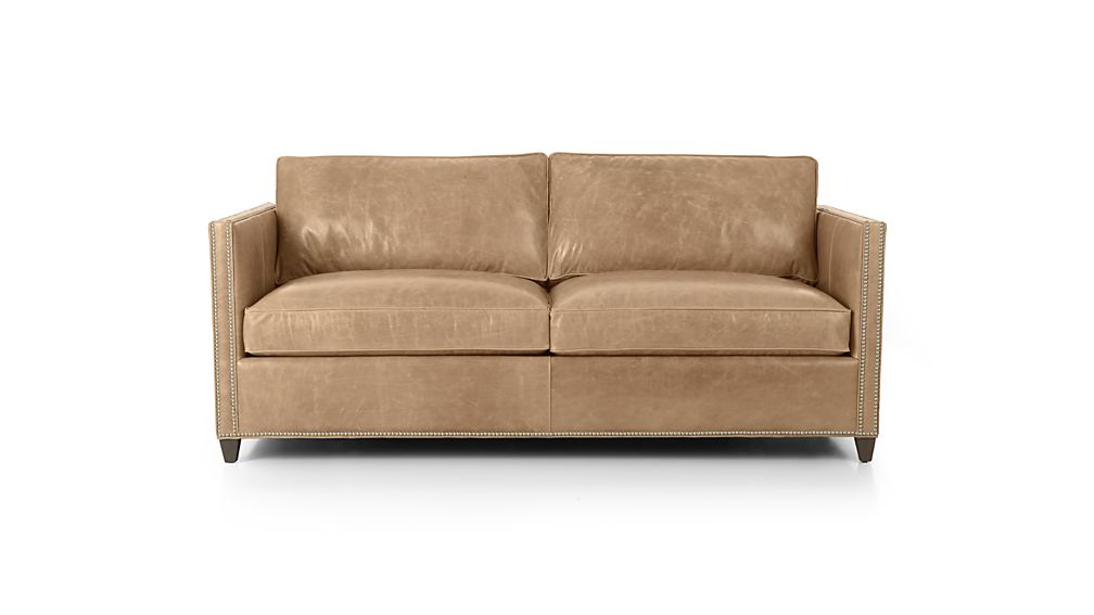 Dryden Leather Apartment Sofa with Nailheads