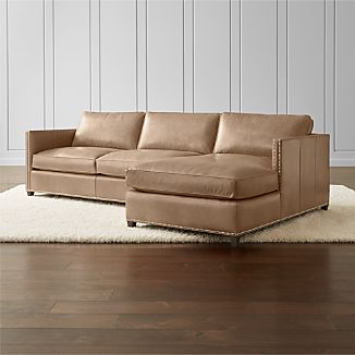 Dryden Leather 2 Piece Sectional With Nailheads