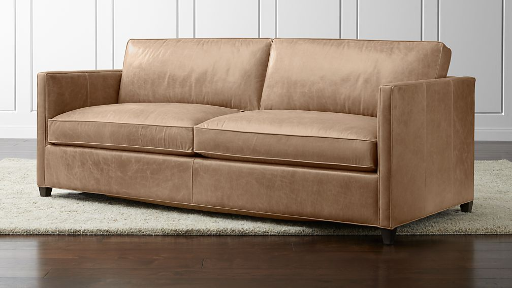 Dryden Leather Queen Sleeper Sofa Crate and Barrel