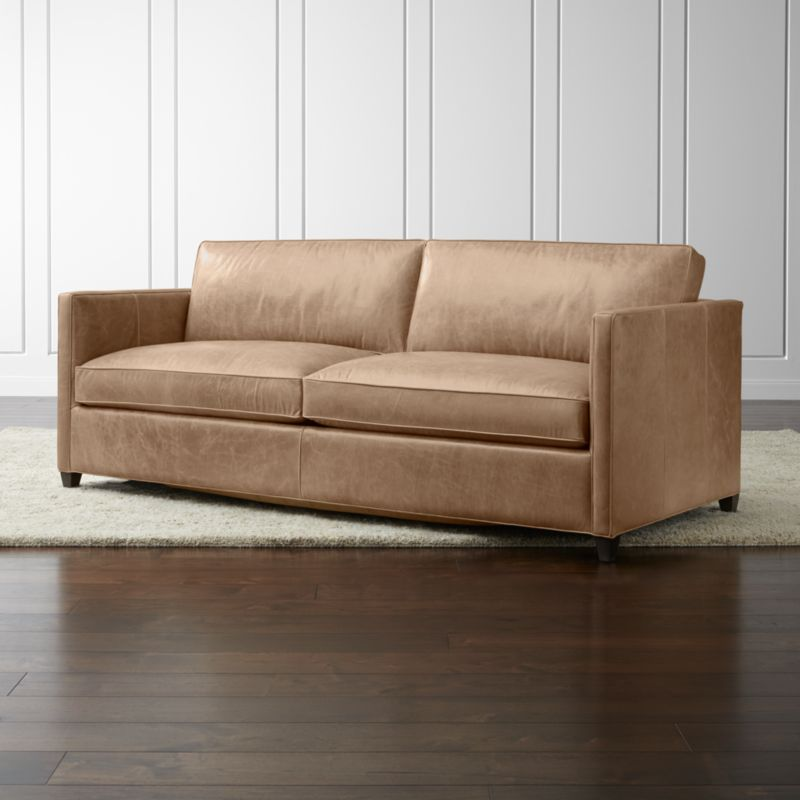 Dryden Leather Queen Sleeper Sofa Reviews Crate and Barrel