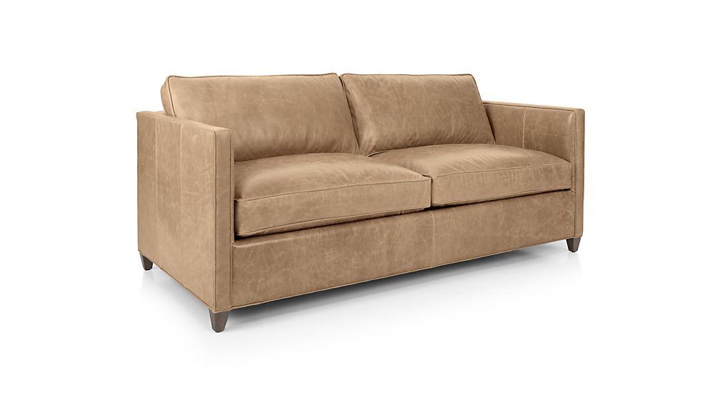 Dryden Leather Full Sleeper Sofa Libby Mushroom Crate