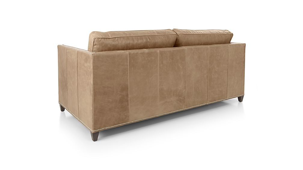 Dryden Leather Full Sleeper Sofa with Nailheads