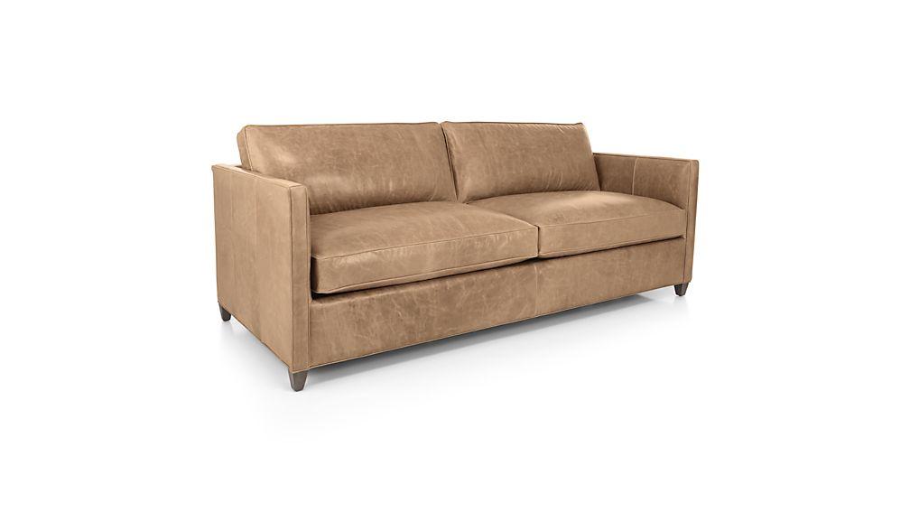 Dryden Leather Queen Sleeper Sofa with Air Mattress