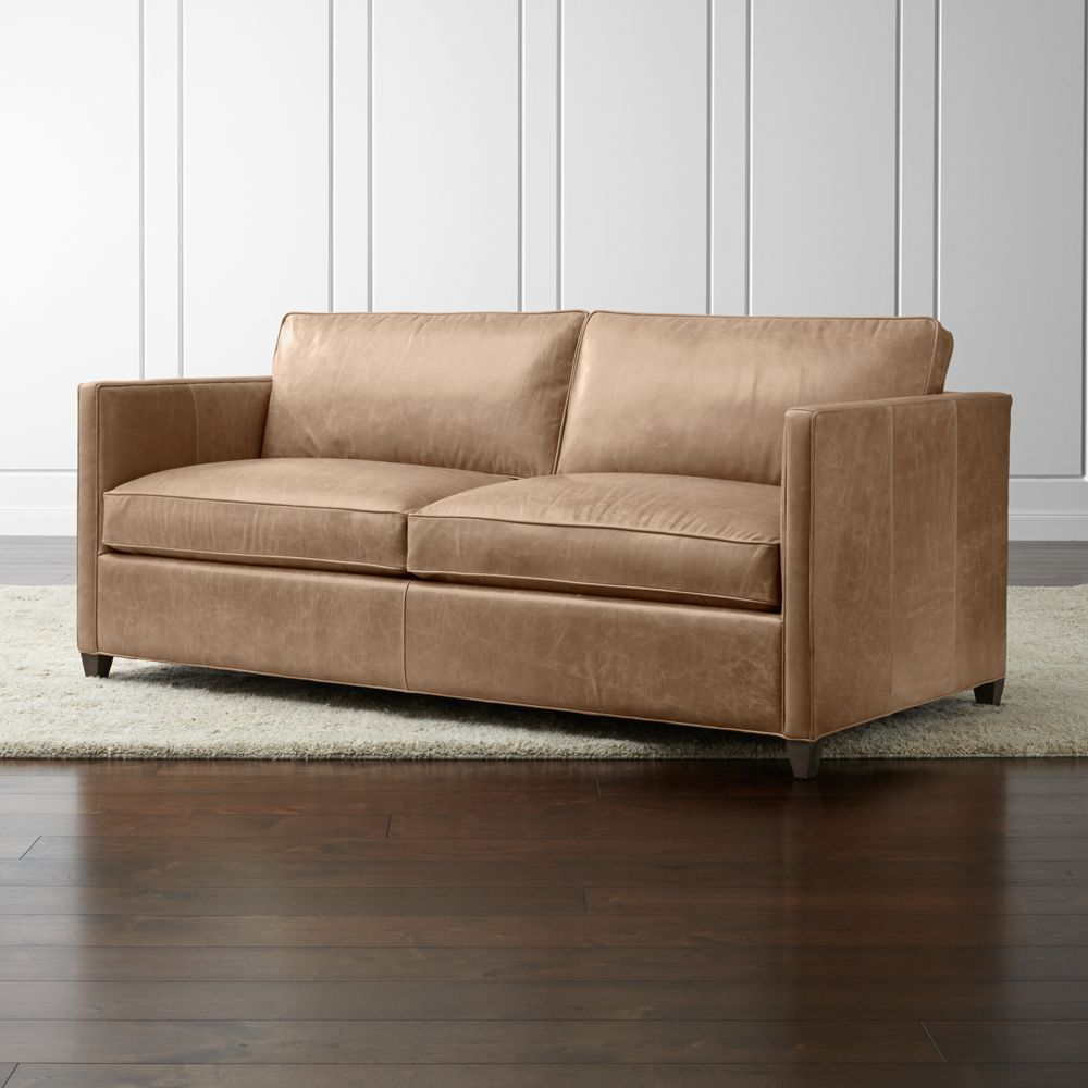 Dryden Leather Apartment Sofa - Crate and Barrel