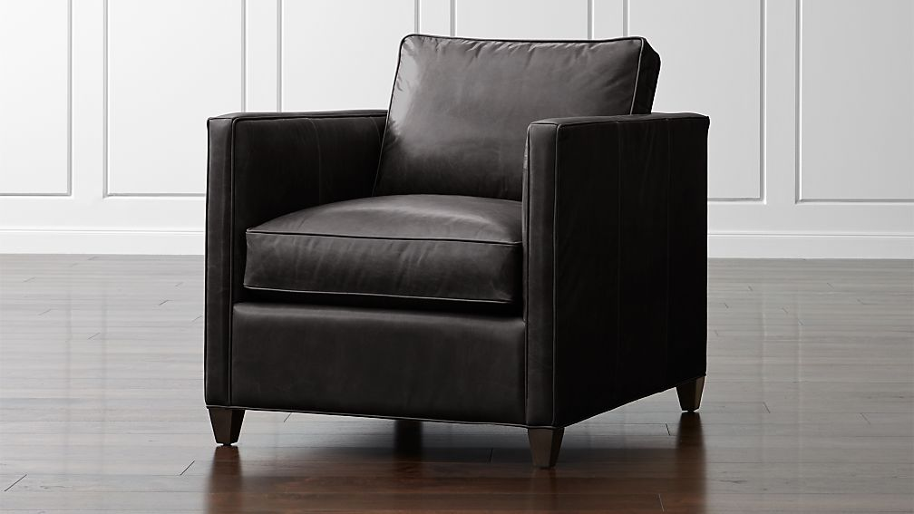 Dryden Leather Chair Reviews Crate And Barrel