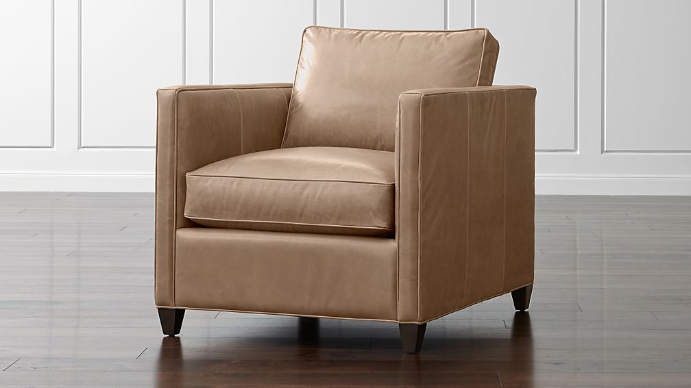 Dryden Modern Leather Chair Crate and Barrel