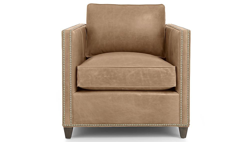 Dryden Leather Chair with Nailheads