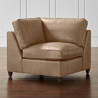 Dryden Leather Corner Chair