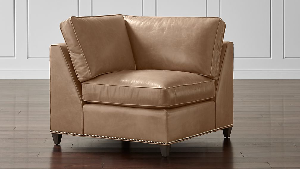 Dryden Leather Corner Chair with Nailheads. Dryden Leather Corner Chair with Nailheads   Crate and Barrel