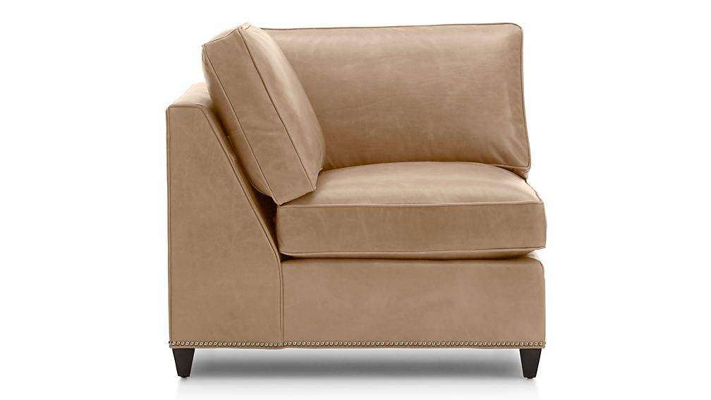 Dryden Leather Corner Chair with Nailheads