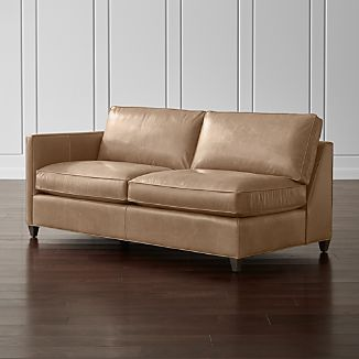 Dryden Leather Left Arm Apartment Sofa