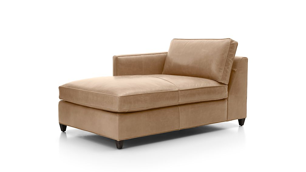 Dryden Leather Left Arm Chaise Lounge
