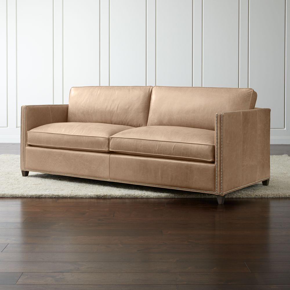 Dryden Leather Sofa with Nailheads - Crate and Barrel