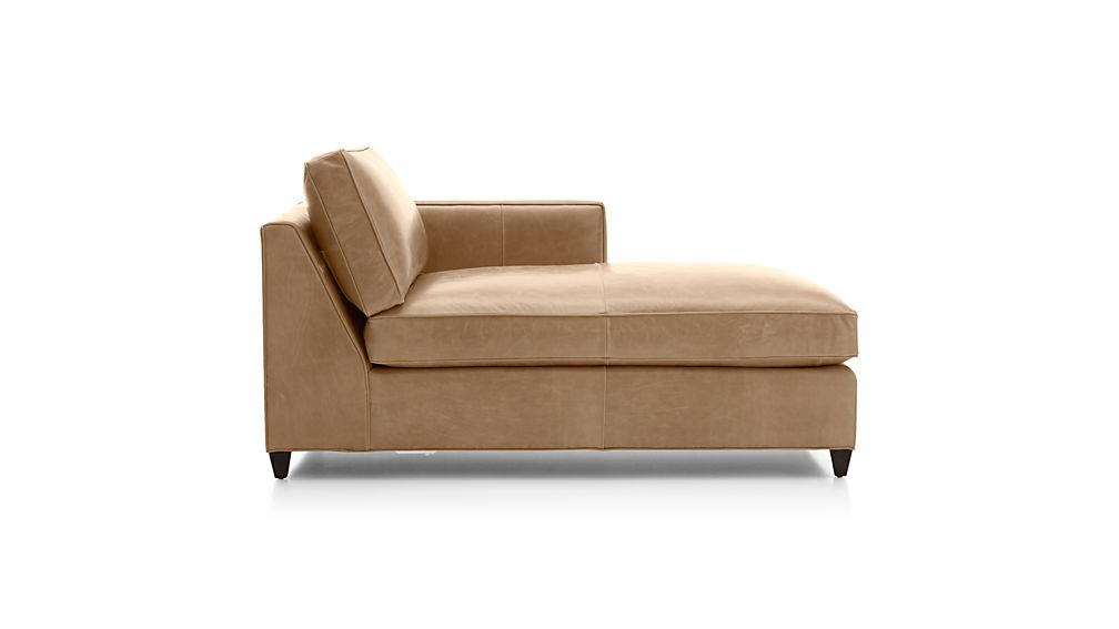Dryden Leather Right Arm Chaise Lounge