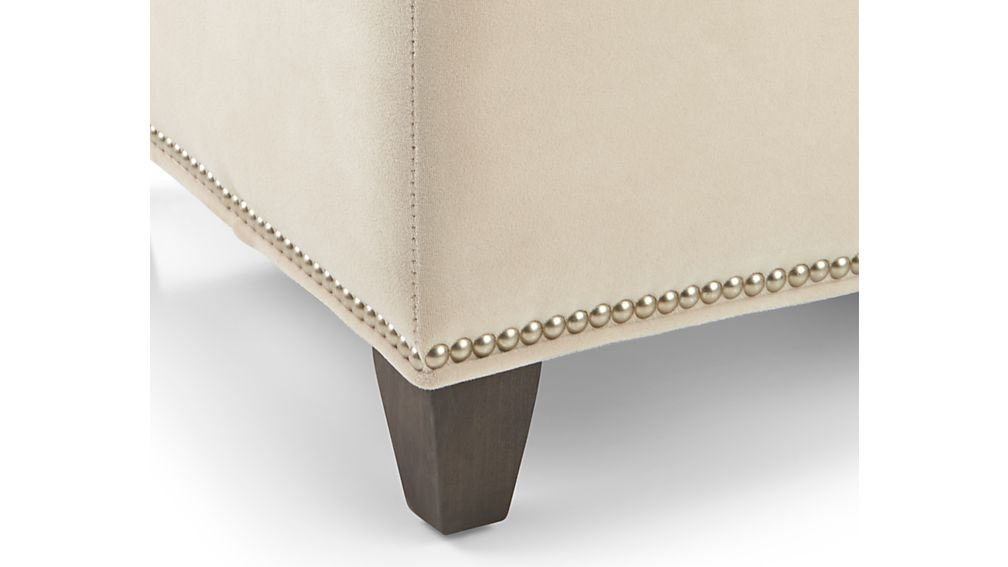 Dryden Ottoman with Nailheads