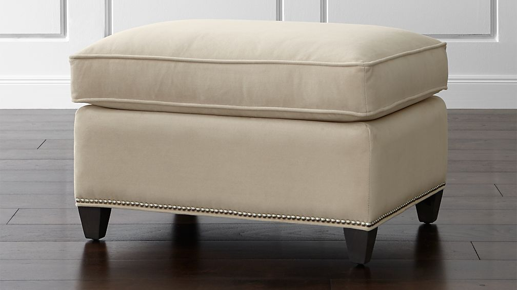 Dryden Ottoman With Nailheads ...