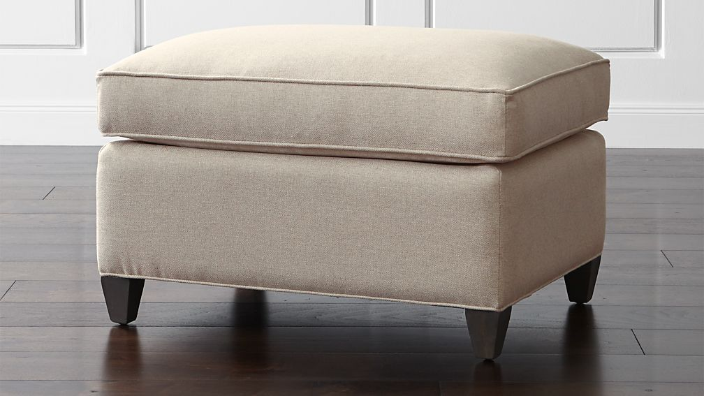 Dryden ottoman crate and barrel for Crate and barrel pouf