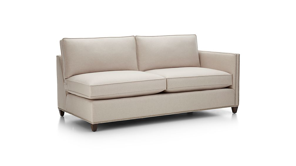 Dryden Right Arm Apartment Sofa with Nailheads