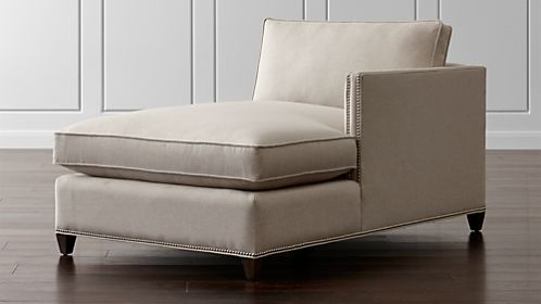 Dryden Right Arm Chaise with Nailheads : chaise loung - Sectionals, Sofas & Couches
