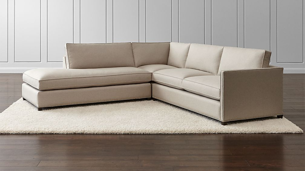 Dryden 3 Piece Sectional With Nailheads ...
