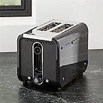 "Studio by Dualit â""¢ Black/Stainless Steel 2-Slice Toaster"