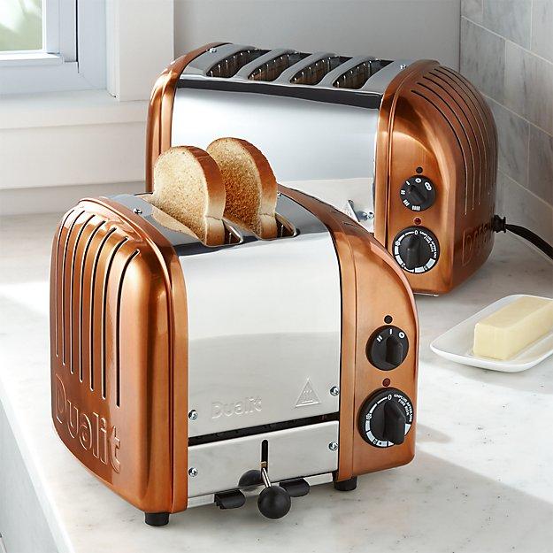 Dualit Newgen Copper Toasters Crate And Barrel
