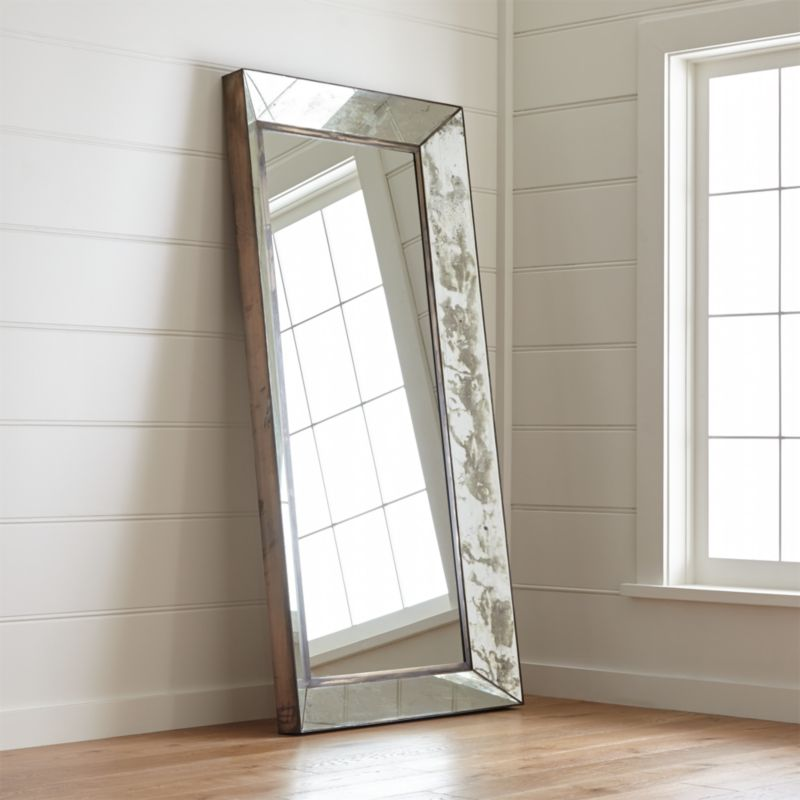 Bathroom Mirrors Crate And Barrel dubois large square wall mirror | crate and barrel