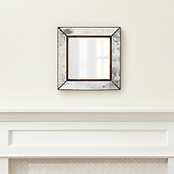 Dubois small square wall mirror reviews crate and barrel for Big square wall mirror